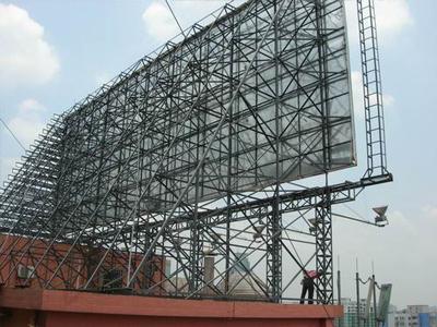 广告牌钢结构效果_装饰工程有限公司
